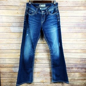 BKE Culture Denim Distressed Bootcut stretch Jeans